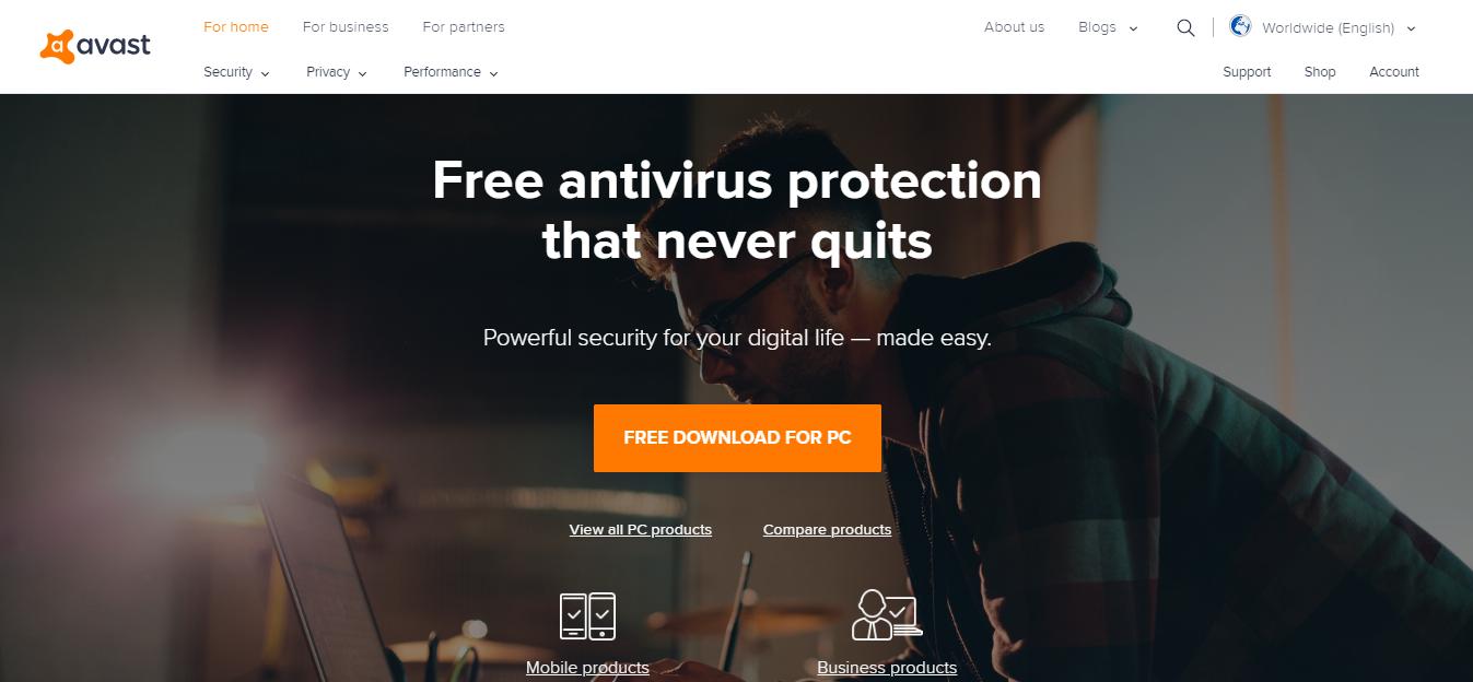 avast antivirus for windows